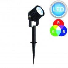 Black Aluminium Colour Changing LED Spot Spike Light