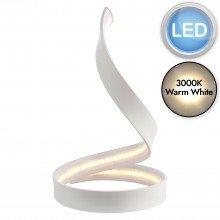 White Spiral LED Lamp