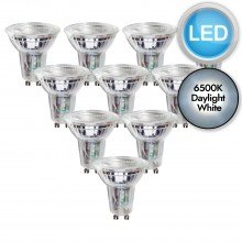 10 x 5.5W LED GU10 Dimmable Light Bulbs - Daylight White