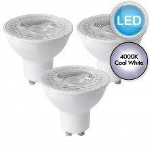 3 x 5W LED GU10 Dimmable Light Bulbs - Cool White