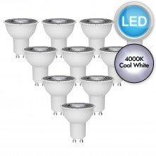10 x 5W LED GU10 Light Bulbs - Cool White