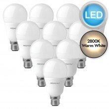10 x 10.5W LED B22 Light Bulbs - Warm White
