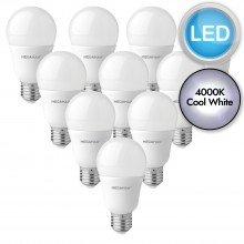 10 x 10.5W LED E27 Light Bulbs - Cool White