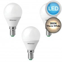 3 x 3.5W LED E14 Golf Ball Light Bulbs - Warm White
