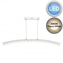 Lekan Clear Glass LED Pendant
