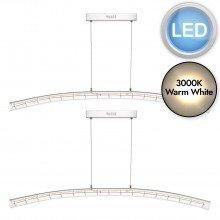 Set of 2 Lekan Clear Glass LED Pendants