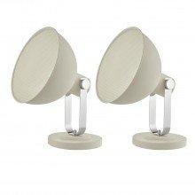 Set of 2 Rutger White Spot Floor Lamps