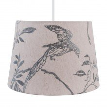 Songbird Natural Linen with Duck Egg Embroidery Lightshade