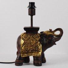Burnt Sienna Resin Elephant Lamp Base