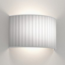 Astro Lighting - Backplate 3 1367003 & 5038010 - Matt White Back Plate with White Pleated Shade