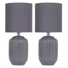 Set of 2 Herring 30cm Dark Grey Lamps