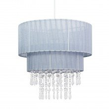Grey Two Tiered Jewelled Light Shade