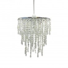 Clear Jewelled Easy Fit Light Shade