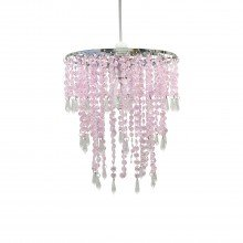 Pink Jewelled Easy Fit Light Shade