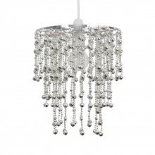 Chrome Jewelled Waterfall Easy Fit Light Shade
