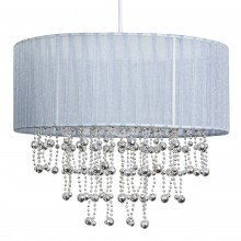 Chrome Beaded Grey 30cm Easy Fit Shade