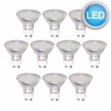 10 x 3W (35W Equivalent) Low Energy GU10 LED Spot Lamps Bulbs 4100K Cool White