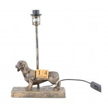 Bronze Dog Table Lamp Base