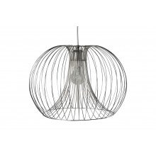 Polished Chrome Wire 42W E27 Ceiling Pendant