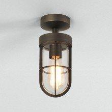 Astro Lighting - Cabin Semi Flush 1368027 - IP44 Bronze Ceiling Light