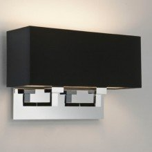Astro Lighting - Park Lane Twin 1080019 (7062) & 5001015 (4109) - Polished Chrome Wall Light with Black Shade