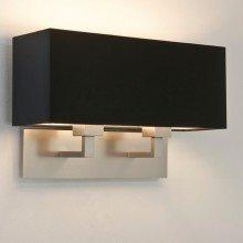 Astro Lighting - Park Lane Twin 1080020 (7063) & 5001015 (4109) - Matt Nickel Wall Light with Black Shade Included
