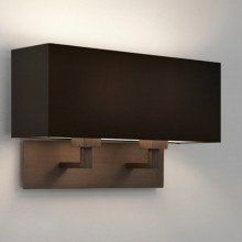 Astro Lighting - Park Lane Twin 1080048 & 5001015 - Bronze Wall Light with Black Shade
