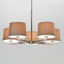 Astro Lighting - Martina Five 1302002 (7087) & 5006003 (4038) - Matt Nickel Pendant with 5 x Oyster Shade Included