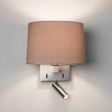 Astro Lighting - Azumi Reader LED 1142034 (7465) & 5013003 (4064) - Matt Nickel Reading Light with Oyster Shade Included