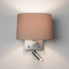 Astro Lighting - Azumi Reader LED 1142034 (7465) & 5013003 (4064) - Matt Nickel Reading Light with Oyster Shade