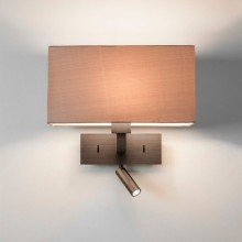 Astro Lighting - Park Lane Reader LED 1080051 (7469) & 5001007 (4035) - Bronze Reading Light with Oyster Shade