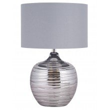 Ripple - Metallic Glass Table Lamp with Grey Shade