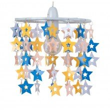 Multicoloured Star Design Easy Fit Light Shade