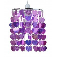 Pink Sparkly Heart Easy Fit Light Shade