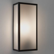 Astro Lighting - Messina (frosted) 1183003 (7187) - IP44 Textured Black Wall Light