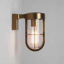 Astro Lighting - Cabin Wall 1368003 (7559) - IP44 Antique Brass Wall Light