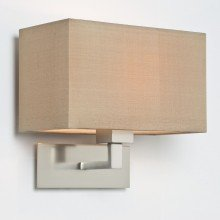 Astro Lighting - Park Lane Grande 1080007 (678) & 5001007 (4035) - Matt Nickel Wall Light with Oyster Shade Included