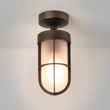 Astro Lighting - Cabin Frosted Semi Flush 1368011 (7853) - IP44 Bronze Ceiling Light
