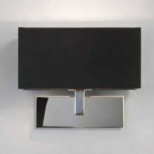 Astro Lighting - Park Lane 1080002 (516) - Polished Chrome Wall Light with Black Shade Included