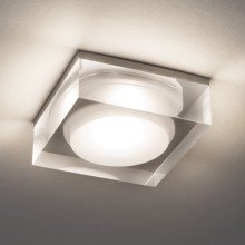Astro Lighting - Vancouver Square 90 LED 1229013 - IP44 Clear Acrylic Downlight/Recessed Spot Light
