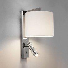 Astro Lighting - Ravello LED Reader 1222018 (7457) & 5016020 (4174) - Polished Chrome Reading Light with White Shade