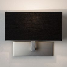 Astro Lighting - Park Lane 1080022 (7098) - Matt Nickel Wall Light with Black Shade Included