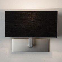 Astro Lighting - Park Lane 1080022 (7098) - Matt Nickel Wall Light with Black Shade