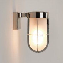 Astro Lighting - Cabin Wall Frosted 1368006 (7848) - IP44 Polished Nickel Wall Light