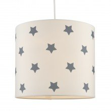 White with Grey Stars Light Shade