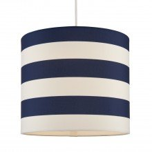 Navy & White Striped Light Shade