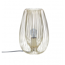 Satin Gold Wire 60W E27 Table Lamp