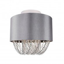 Grey Fabric Ceiling Flush With Beaded Diffuser