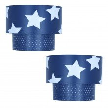Pair of Kids Star Design 2 Tier Easy Fit Ceiling Shades