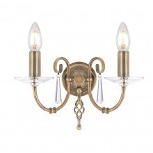 Elstead - Aegean AG2-AGED-BRASS Wall Light